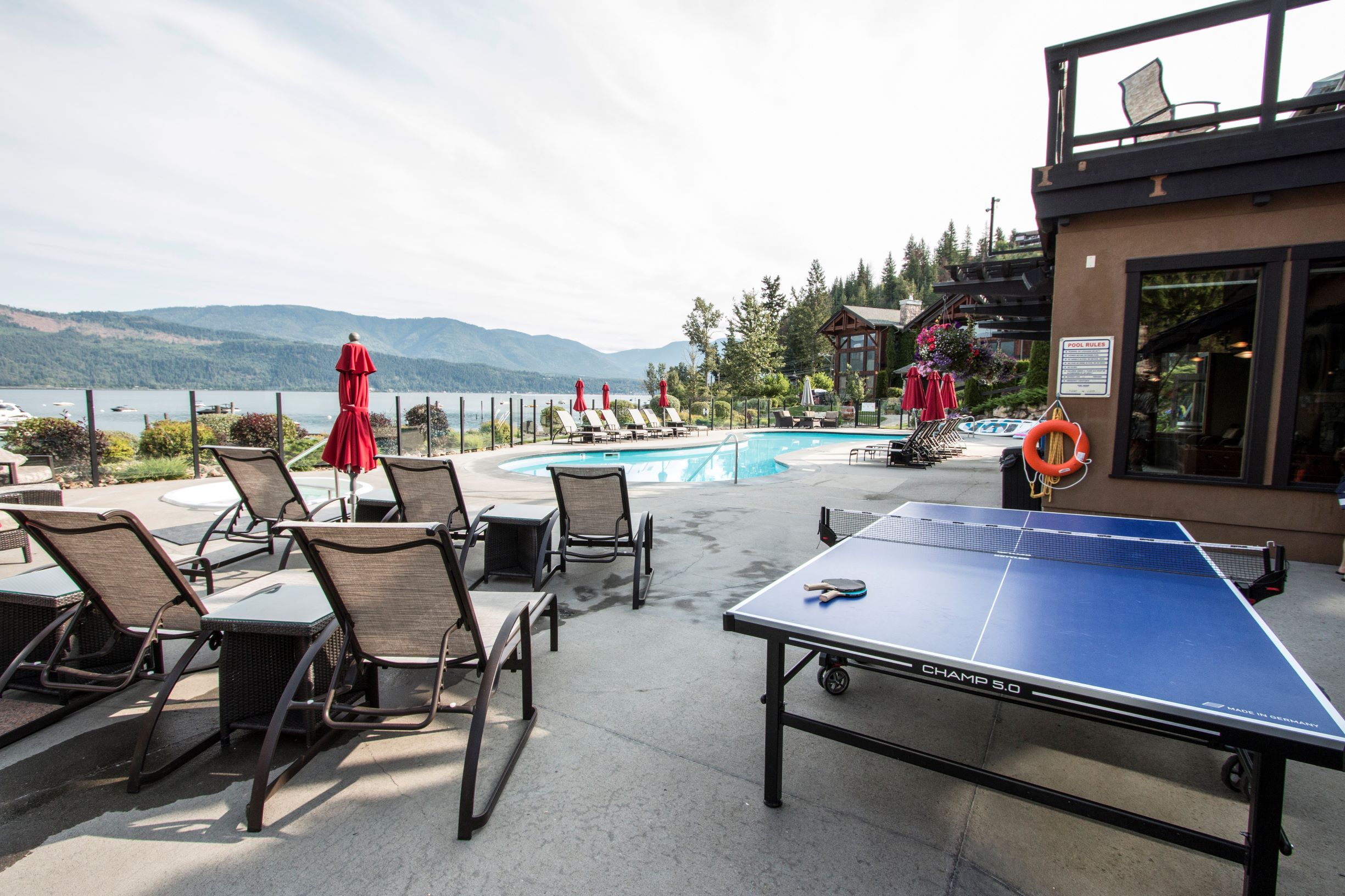 Ping Pong / Pool / Lake View